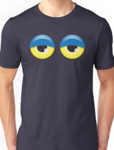 Dopey looking Blue lidded eyes Unisex T-Shirt