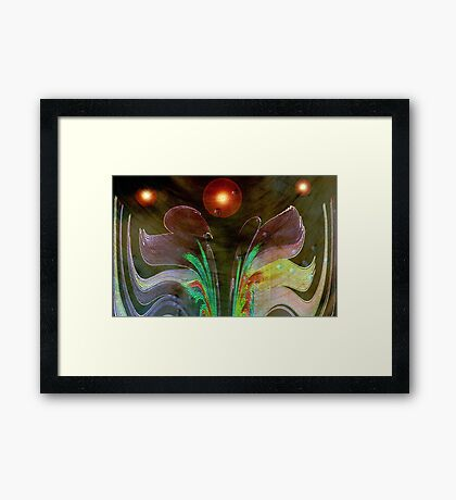 Space Flower © Framed Print