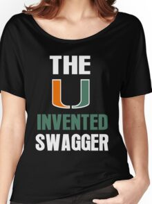 The U Invented Swagger Miami Canes Women's Relaxed Fit T-Shirt