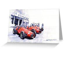 Team Ferrari 500 F2 1953 German GP Greeting Card