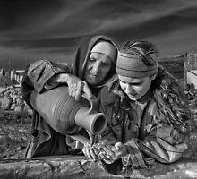 Mono ''At the Well';Għajnsielem, Gozo by Edwin  Catania