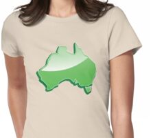 Aussie Australian map of Down under Womens Fitted T-Shirt