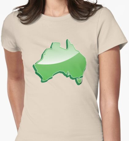 Aussie Australian map of Down under Womens Fitted T-Shirt