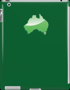 Aussie Australian map of Down under by jazzydevil