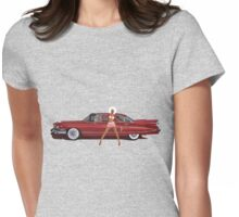 The Seventies are back - Red Cadillac Womens Fitted T-Shirt