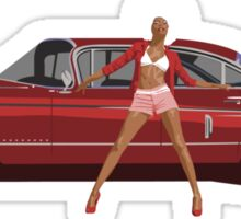 The Seventies are back - Red Cadillac Sticker