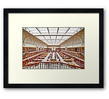 Mitchell Library Reading Room Framed Print