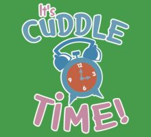 It's CUDDLE time! with cute clock  One Piece - Short Sleeve