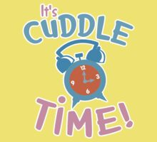 It's CUDDLE time! with cute clock  Baby Tee