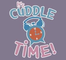 It's CUDDLE time! with cute clock  Kids Clothes