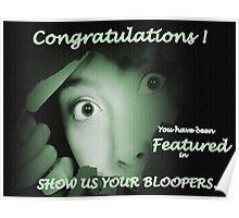 Blooper Challenge Poster