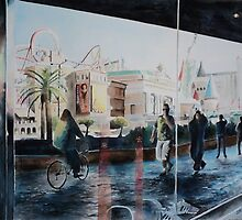 """""""Strolling - art of the vegas strip"""" by Spenceartist"""