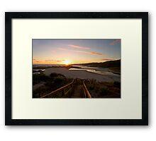 Sunset at Lights Beach Framed Print