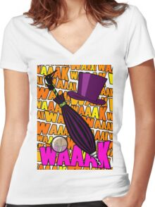 WAAAK WAAK WAK Women's Fitted V-Neck T-Shirt