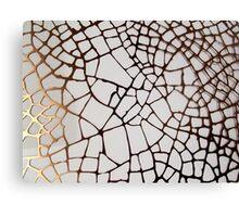 Gold Cobweb Canvas Print