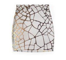 Gold Cobweb Mini Skirt