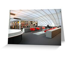library red chair Greeting Card
