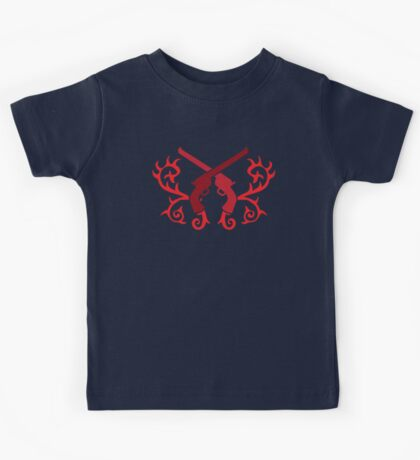 Red pistol guns with thorns Kids Tee
