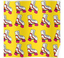 Yellow Roller Blade Pattern Poster