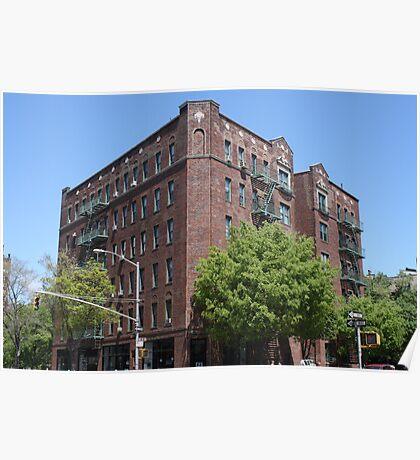 New York City Apartment Block Poster