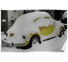 Yellow Beetle (Canterbury in the Snow 2010) Poster