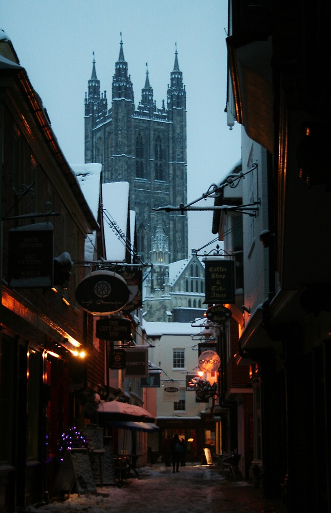 Cathedral from Butchery Lane (Canterbury in the Snow 2010) by JJFA