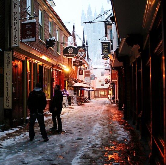 Snowy Butchery Lane (Canterbury in the Snow 2010) by JJFA