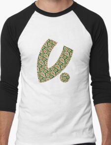 """""""V For Bandana"""" - Green/Yellow Men's Baseball ¾ T-Shirt"""