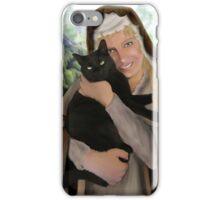 Saint Gertrude of Nivelles iPhone Case/Skin