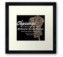 Okavango Elephant Framed Print