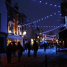 Snowy Blue High Street (Canterbury in the Snow 2010) by JJFA