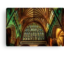Exeter Cathedral Window Canvas Print