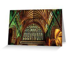 Exeter Cathedral Window Greeting Card