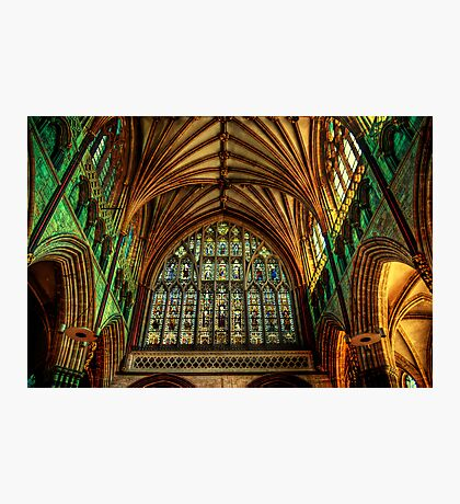 Exeter Cathedral Window Photographic Print