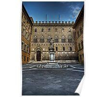 Piazza Salimbeni,Siena,Italy Poster