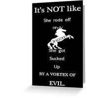 Unicorn Vortex Greeting Card