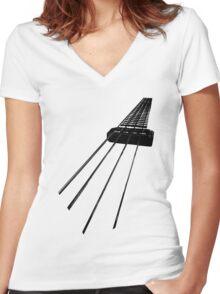 Hofner Bass Women's Fitted V-Neck T-Shirt