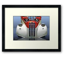 Candy Cane Hot Rod Framed Print