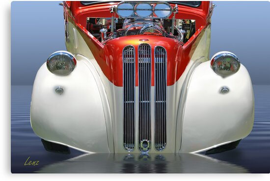 Candy Cane Hot Rod by George Lenz
