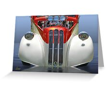 Candy Cane Hot Rod Greeting Card