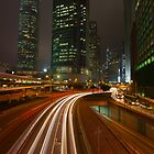 Connaught Road at Night. by Nick Atkin