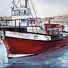 Diamond Trawler at Lambert's Bay by Marie Theron