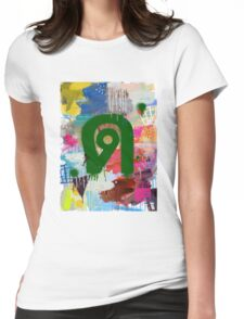 """Thai Characters """"ด"""" Womens Fitted T-Shirt"""