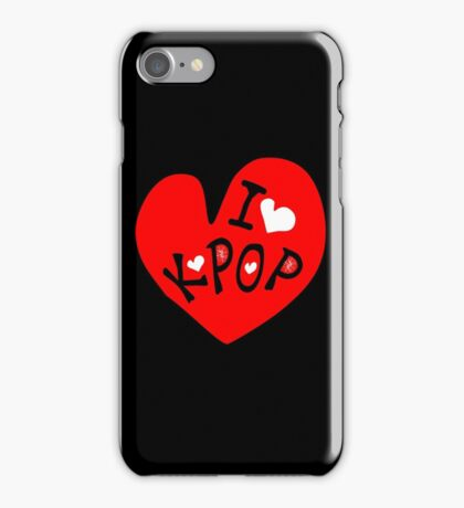 I love k-pop txt heart vector graphic line art iPhone Case/Skin