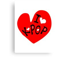 I love k-pop txt heart vector graphic line art Canvas Print