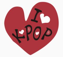 I love k-pop txt heart vector graphic line art Kids Tee