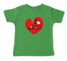 I love k-pop txt heart vector graphic line art Baby Tee