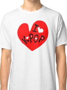 I love k-pop txt heart vector graphic line art Classic T-Shirt