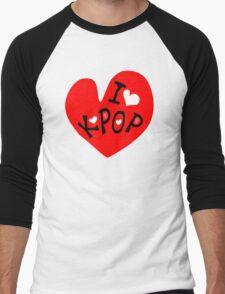 I love k-pop txt heart vector graphic line art Men's Baseball ¾ T-Shirt