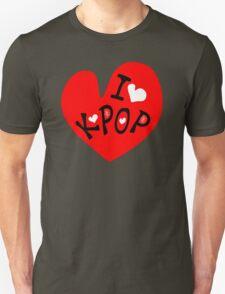 I love k-pop txt heart vector graphic line art Unisex T-Shirt